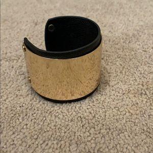 Aldo gold leather cuff